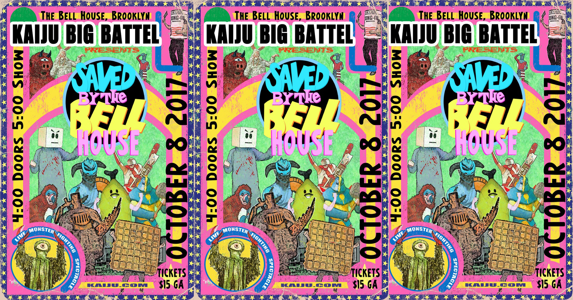 Kaiju Big Battel Saved By The Bell House Maxfun Nyc